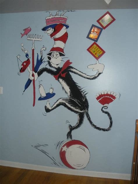 Cat In The Hat Nursery Decor Cat In The Hat Nursery Theme Eclectic Bedroom Ta By Unique Murals