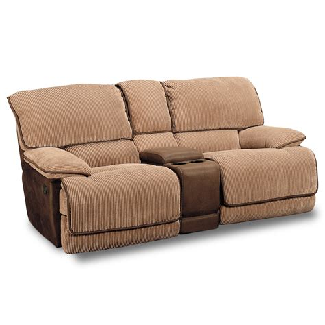 Recliner Sofa Chair Laguna Gliding Reclining Loveseat Camel Value City Furniture