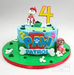 paw patrol 2 dogs empire cake
