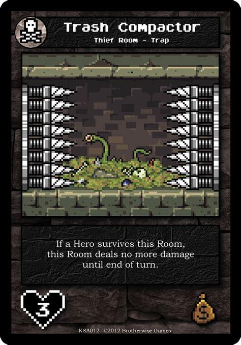 trash compactor wiki trash compactor boss monster the dungeon building card