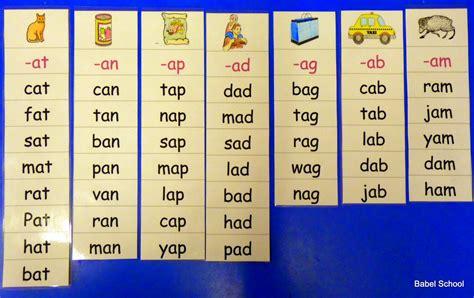 cvc pattern words list cvc word lists