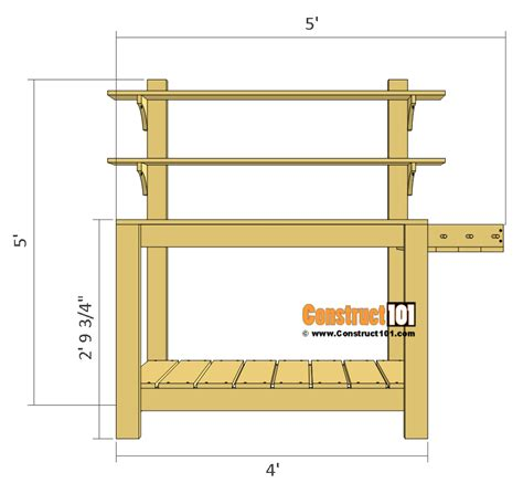 Potting Table Plans by Simple Potting Bench Plans Outdoor Diy Project
