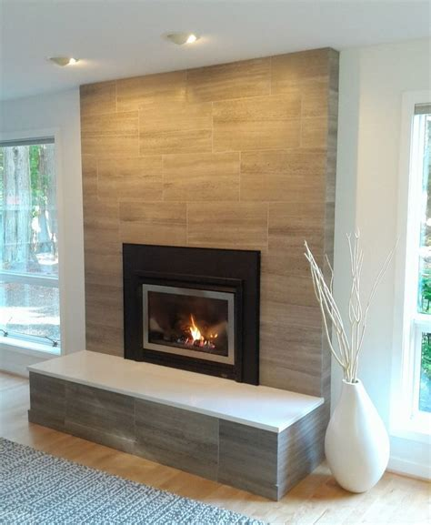 Fireplace Tile Ideas by Ravishing Limestone Tile Home Remodeling Seattle Modern