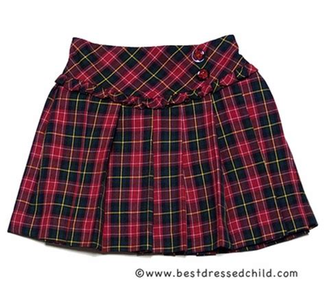 Pusat Rajutan Layla Plaid Reds louise pleated plaid skirt with ruffle