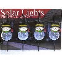 solar snowman lights solar led decorations