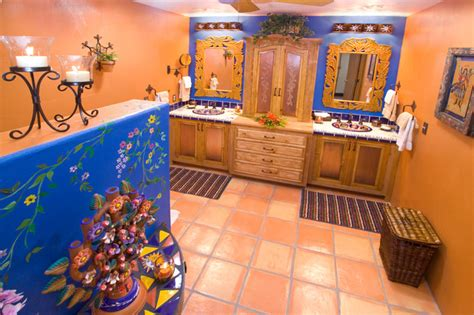 mexican bathroom designs bathroom bold mexican style mediterranean bathroom