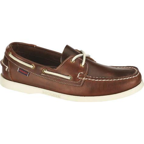 docksides cuir gras marron semelle blanche chaussures bateau homme sebago