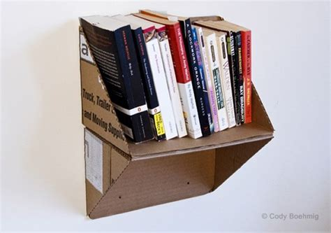 diy cardboard crafts crafts box shelves and recycled books