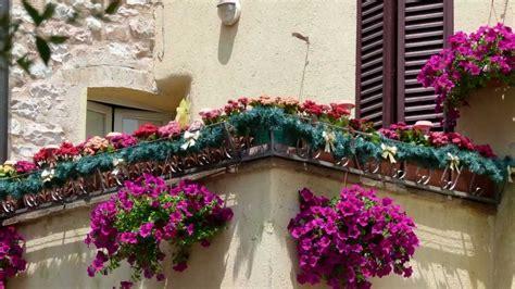 balconi fioriti inverno umbria spello finestre balconi vicoli fioriti hd