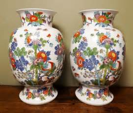 Dresden Vase by Antiques Atlas Pair Of Dresden Vases