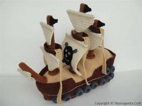 pattern for a pirate ship crochet pattern pirate ship toys in pdf 00464