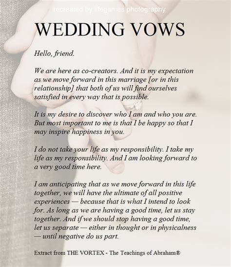 Wedding Vows Script by Official Ceremony Script Just B Cause