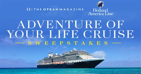 Oprah Sweepstakes 2017 - oprah magazine adventure of your life cruise sweepstakes oprah com paradisecruise
