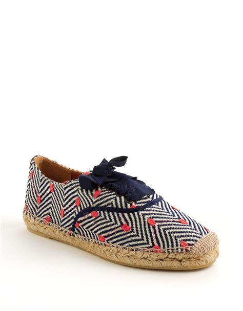 missoni herringbone derby shoes in blue for pink lyst