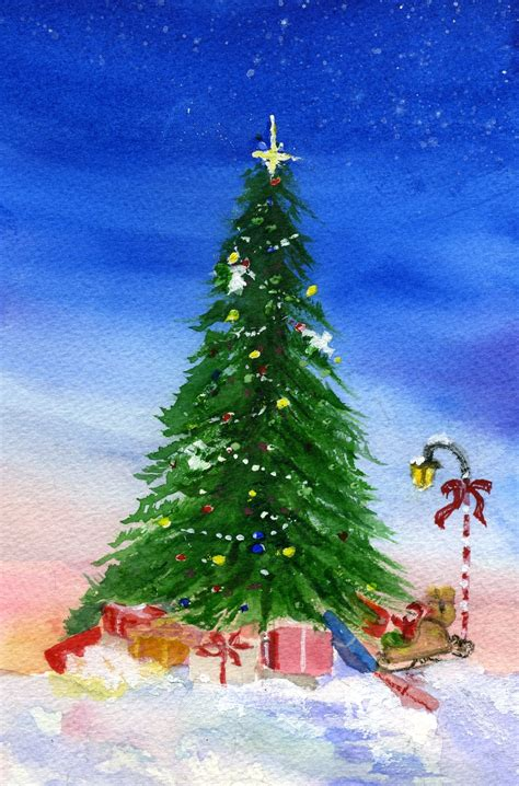 christmas tree painting ideas christmas lights decoration