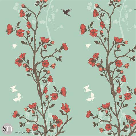 japanese pattern wallpaper uk japanese garden of flowers peel stick wallpaper