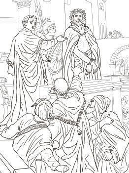 coloring pages jesus before pilate 9 pontius pilate asks the crowd coloring page http
