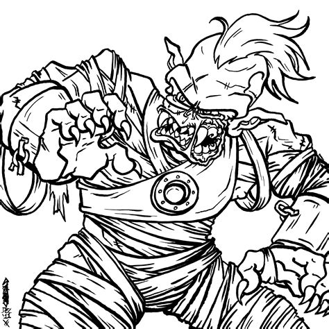 coloring page of a zombie kids zombie coloring page coloring home
