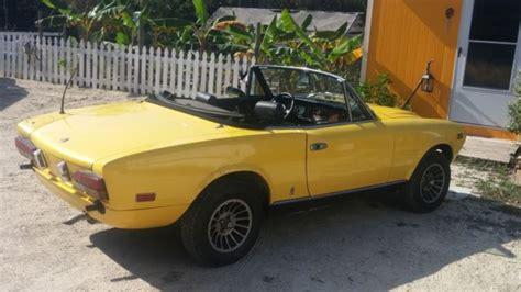 1979 Fiat Spider 2000 Parts 1979 Fiat Spyder 124 2000 Pininfarina Convertible Auto