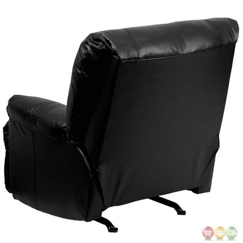 modern black leather recliner contemporary apache black leather rocker recliner