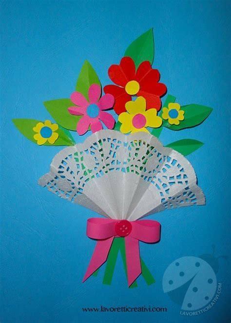 poesia fiori fiori di carta per la festa della mamma lavoretti creativi
