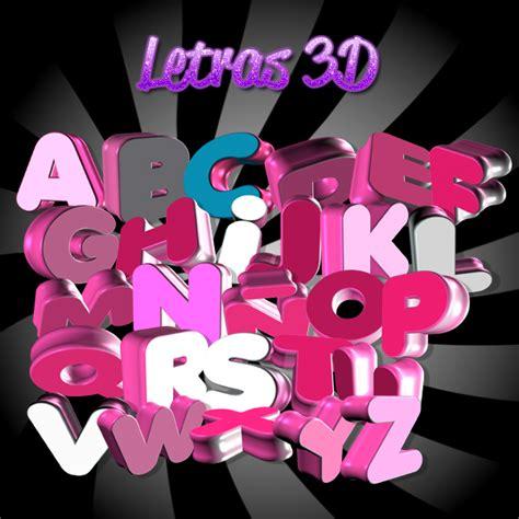 imagenes en 3d letras letras 3d png imagui