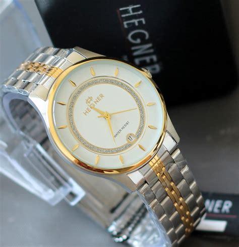 Hegner Hg01 Gold White hegner jam tangan hegner wanita pria garansi showroom resmi deals for only rp199 000