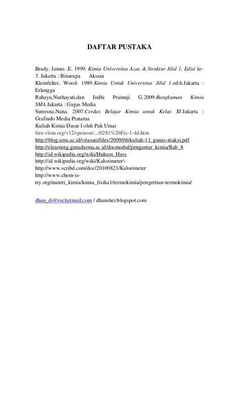 Chempro Edisi Keempat Kimia Dasar Ii Soal Dan Pembahasan Untuk Tpb makalah tentang termokimia