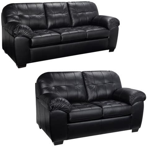 And Black Couches by Black Italian Leather Sofa And Loveseat 15442181
