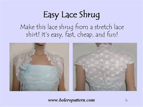 how to sew onto lace make an easy lace shrug
