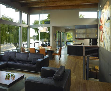 Home By The River luxury contemporary house by the river in washington