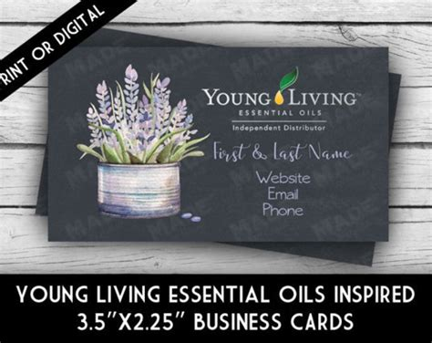 25 Best Ideas About Young Living Business Cards On Pinterest Young Living Business Young Living Business Card Template