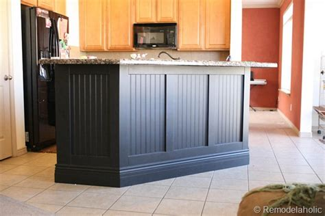 Kitchen Island Panel Ideas Remodelaholic Fabulous Kitchen Island Makeover Part One