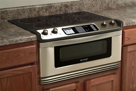 Microwave With Oven Drawer by Sharp Kb5121ks 30 Inch Electric Cooktop And Microwave