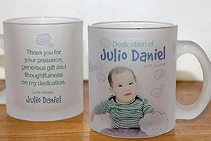 Baptismal Giveaways Davao City - personalized glass mugs and other glassware davao city philippines mypartyblue com
