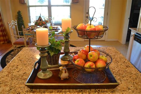 Kitchen Island Centerpieces by Kristen S Creations Kitchen Island Vignette