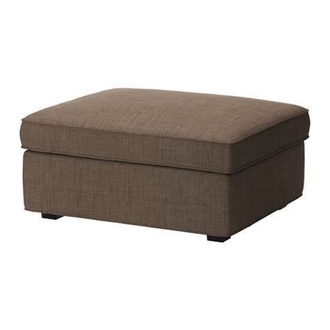 footstool slipcovers ikea kivik footstool slipcover ottoman cover isunda brown