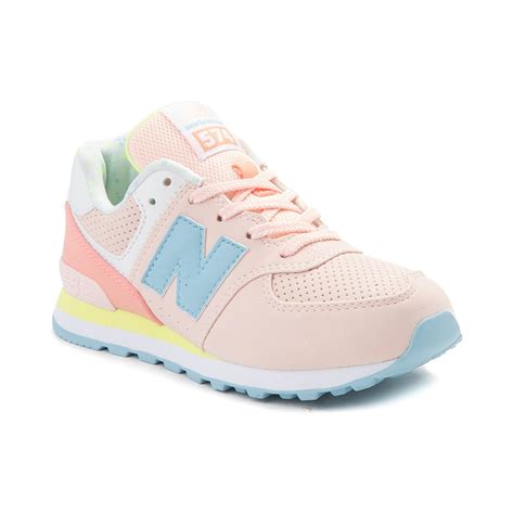 youth athletic shoes youth new balance 574 athletic shoe pink 1401269