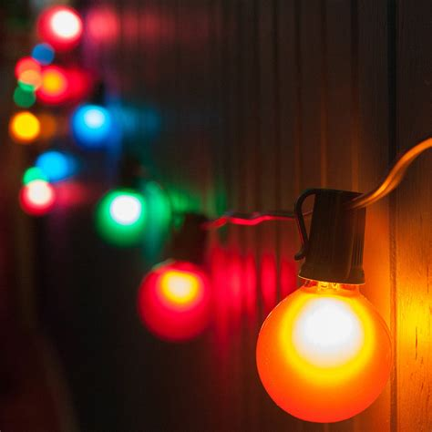 colored light patio lights multicolor satin lights 50 g50 e17