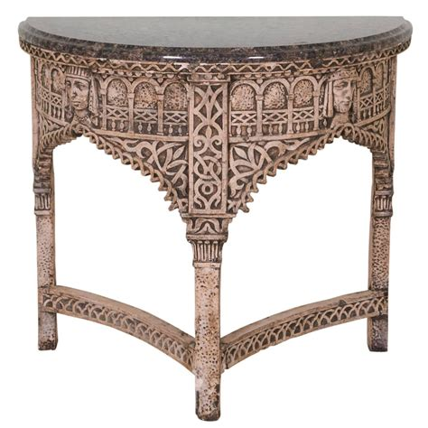 gothic style table ls gothic style demilune console table for sale at 1stdibs