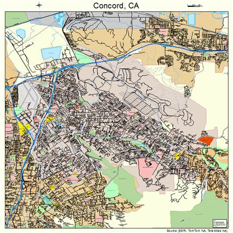 Concord Ca | concord california street map 0616000