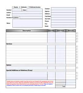 Estimate Template Pdf by Roofing Estimate Exle Pdf Studio Design Gallery
