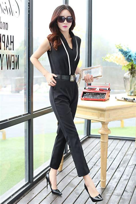 Baju Jumpsuit Wanita Black Flowery M Import Original busana formal wanita baju kerja korea style jumpsuit korea baju korea baju korea