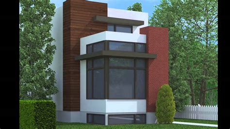 narrow lot modern house plans contemporary narrow lot home plans youtube