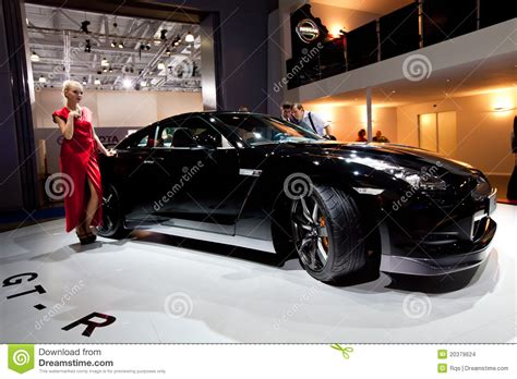 black nissan sports car black sport car nissan gt r editorial stock image image