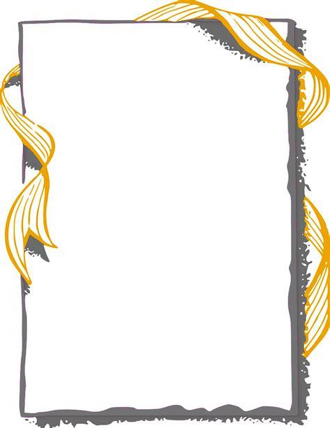 ribbon frame gold page frames more frames ribbon edge
