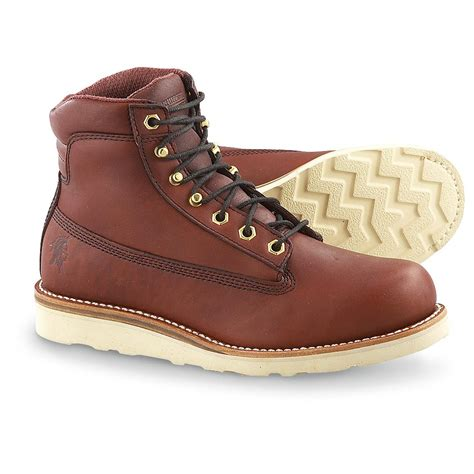 mens wedge boots s chippewa 174 6 quot wedge boots redwood 157272 work