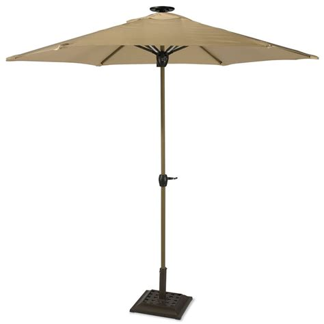 Solar Patio Umbrella Lights Led Umbrella Patio Sunergy 50140732 9 Solar Powered Patio Umbrella W 16 Led Lights Gray Ebay