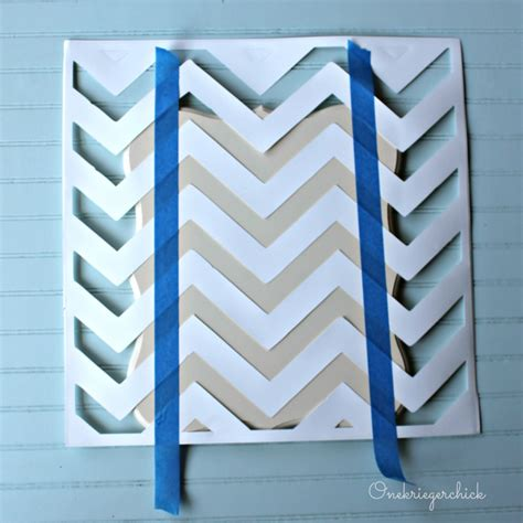 chevron template for painting poppy seed projects guest post make a clipboard from an