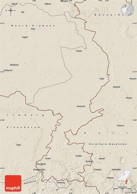 netherlands limburg map shaded relief map of limburg